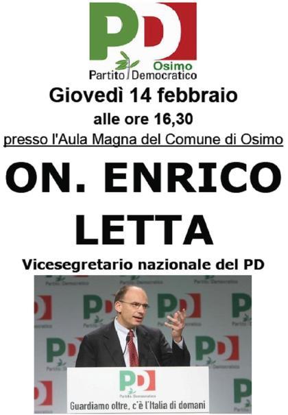 Enrico Letta in Osimo