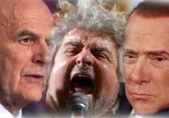 Bersani Grillo Berlusconi