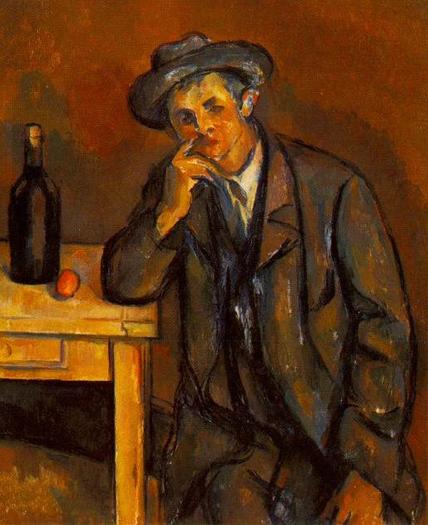 ( Cezanne, il bevitore )