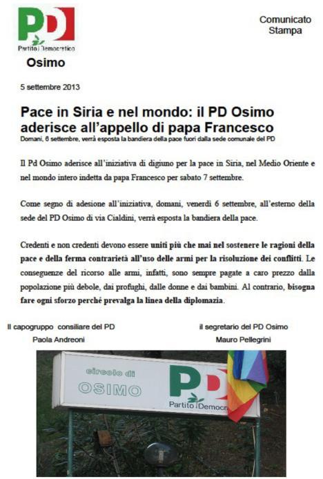 PD Pace 7 settembre