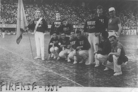 """Firenze 1951 (foto tratta dal libro di Massimo Morroni """"Virtus Osimo"""")"""