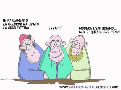 Boldrini ghigliottina vignetta