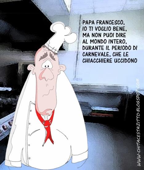 PAPA FRANCESCO CHIACCHIERE VIGNETTA