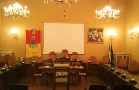 """Sala del Consiglio Comunale detta """"sala Gialla"""""""