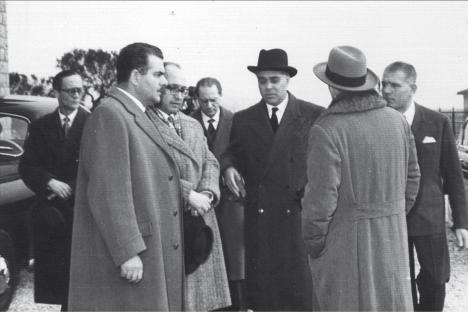 Mattarella ad Osimo 1957