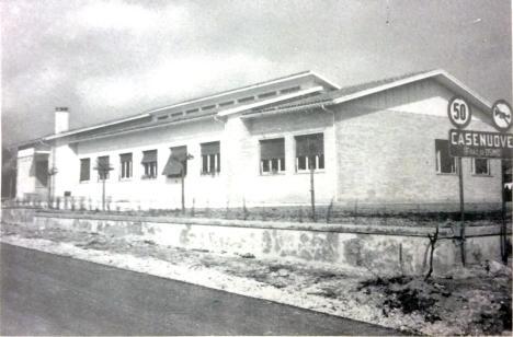Nuovo Edificio scolastico realizzato, in località Casenuove, nel 1961