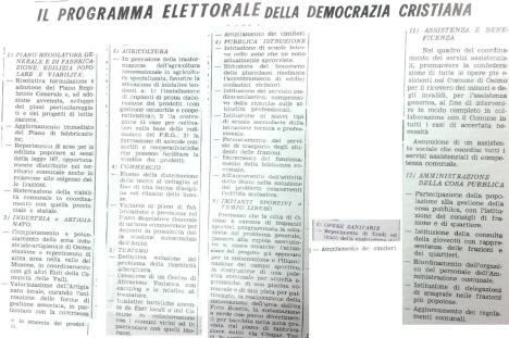 programma elettorale 1970 della DC