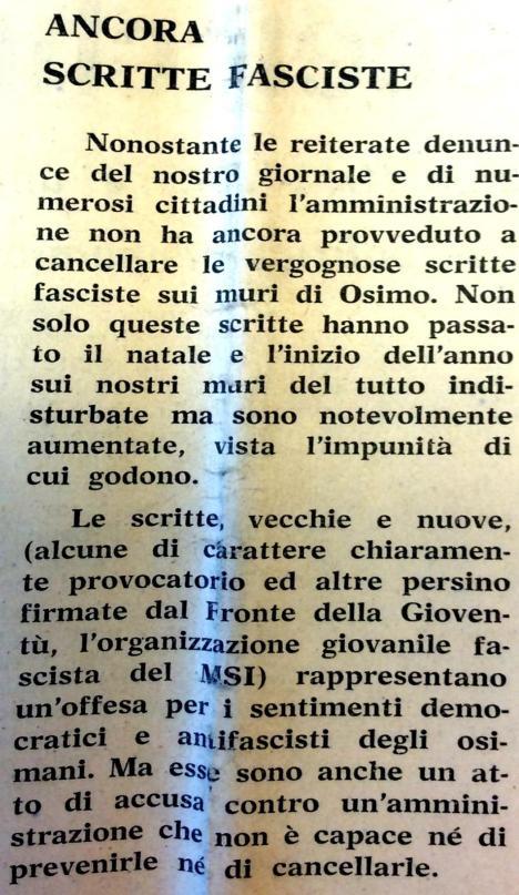 scritte fasciste