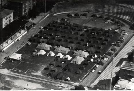terremoto Ancona 1972tendopoli al dorico
