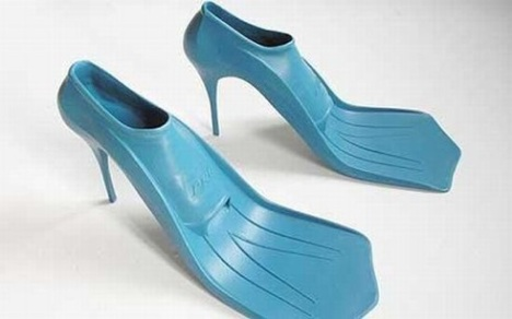National PIctures    Pic shows high heels which double as flippers. See copy NnHeels