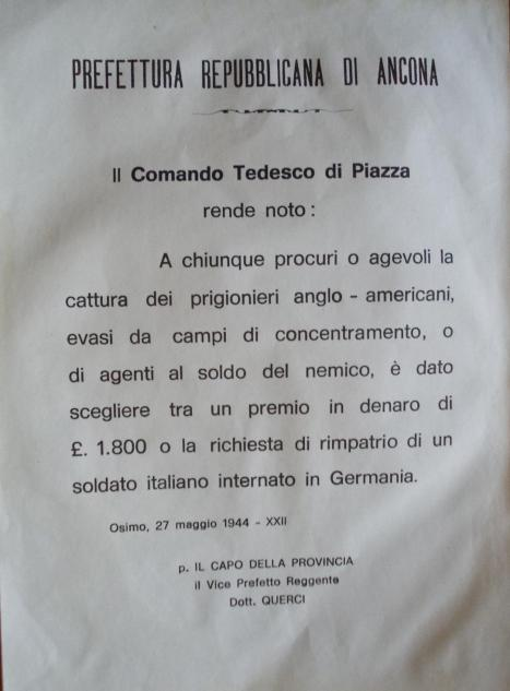 avviso Comando tedesco